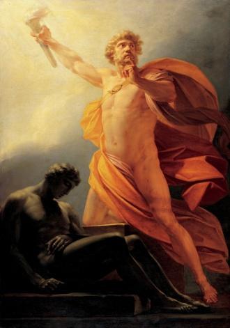 Prometheus bringt den Menschen das Feuer (Heinrich Fueger 1817)
