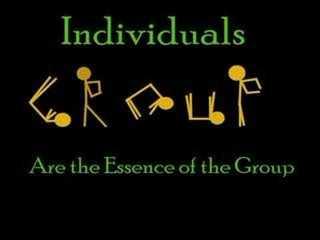 Individuen sind die Essenz der Gruppe