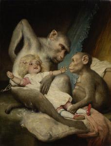 Anthropologischer Unterricht. Affen sind uns sehr ähnlich.