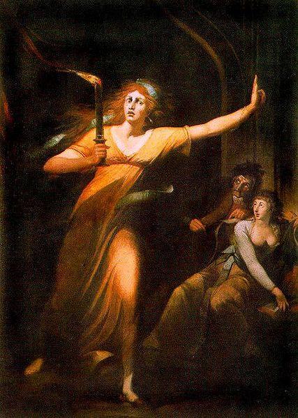 Johann Heinrich Füssli: Die schlafwandelnde Lady Macbeth