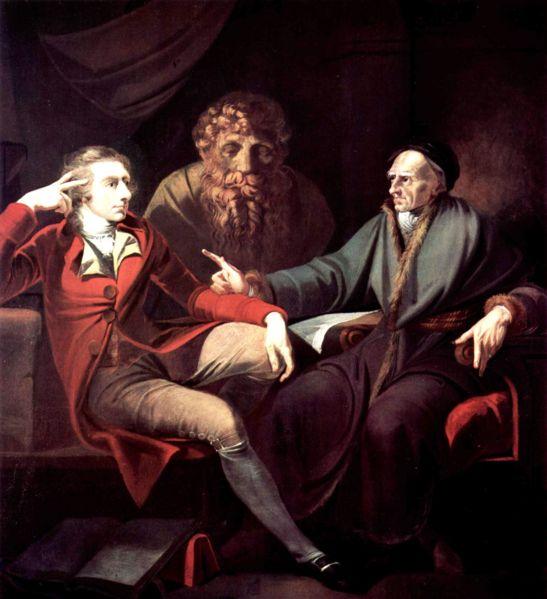 Johann Heinrich Füssli im Gespräch mit Johann Jakob Bodmer