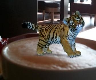 Ein Tiger in meinem Kaffee (Foto: Andreas Müller)