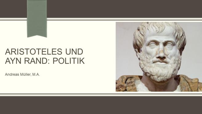 Aristoteles und Ayn Rand Politik Teaser