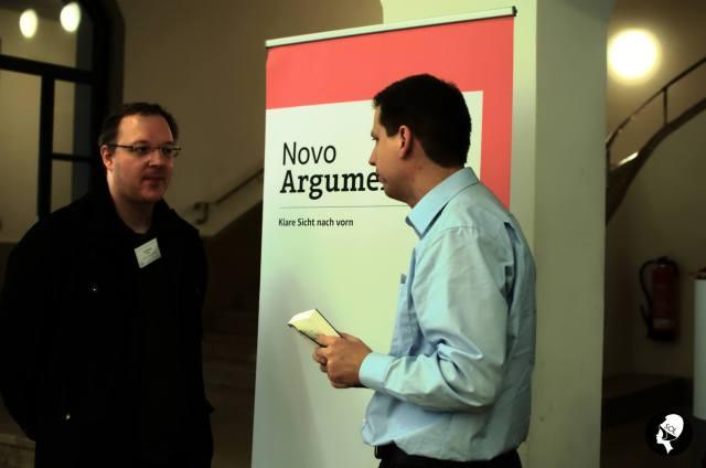 """Andreas Müller (links) und Thomas Leske (rechts) auf der """"Recht & Freiheit""""-Konferenz (Foto: Sons of Libertas)"""