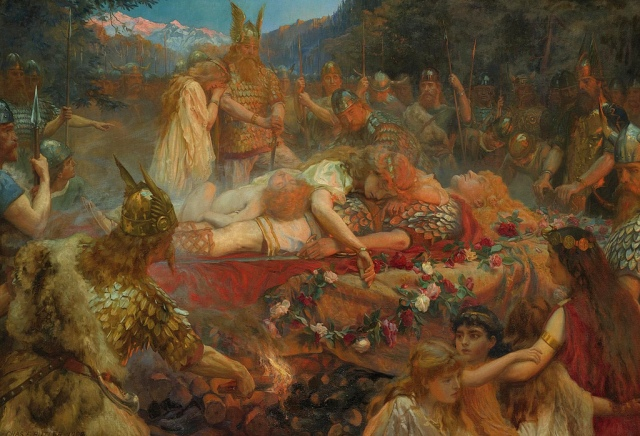 Charles Ernest Butler: Tod eines Wikingerkriegers (1909)