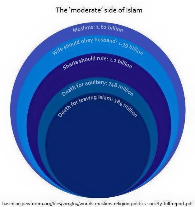 Was Muslime laut Pew-Umfragen glauben, Grafik von Saif Rahman