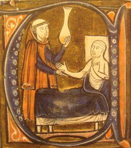 """Europäische mittelalterliche Darstellung Al-Razis aus dem """"Receuil des traites de medecine"""" (1250–1260), Gerhard von Cremona"""